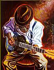 Steven Johnson Strummin' Blues painting