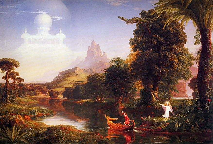 Thomas Cole The Voyage of Life Youth
