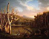 Thomas Cole Lake with Dead Trees (Catskill) painting