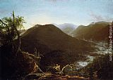 Thomas Cole Sunrise in the Catskill Mountains painting