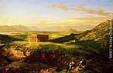 Thomas Cole The Temple of Segesta with the Artist Sketching painting