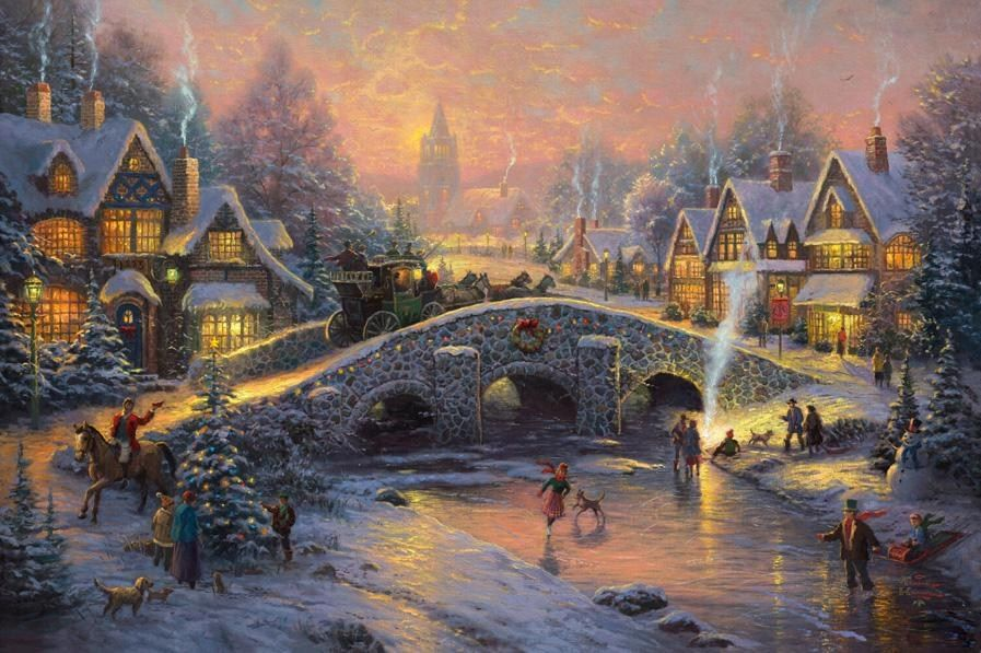 Thomas Kinkade Spirit of Christmas