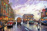 Thomas Kinkade City by the Bay painting