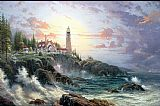Thomas Kinkade Clearing Storms painting