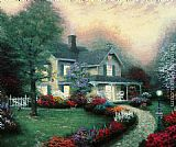 Thomas Kinkade Home Is Where The Heart Is painting