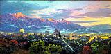 Thomas Kinkade Salt Lake, City of Lights painting