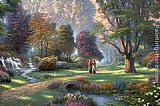 Thomas Kinkade Walk of Faith painting