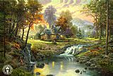 Thomas Kinkade mountain retreat painting