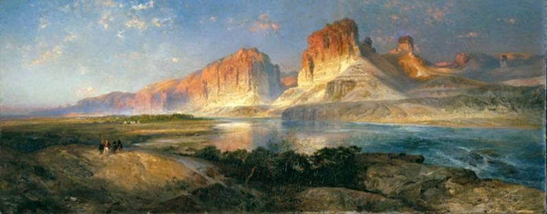 Thomas Moran Nearing Camp on the Upper Colorado River