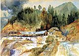Thomas Moran Trojes Mine painting