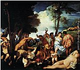 Titian The Bacchanal of the Andrians CRISP painting