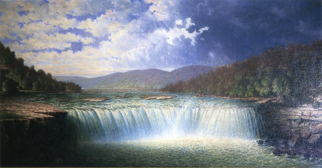 Unknown Falls of the Cumberland River Whitley County Kentucky by Carl Christian Brenner