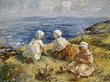 Unknown Summer on the Clifftops painting