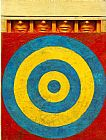 Unknown jasper johns Target with Four Faces painting