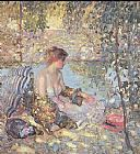 Unknown sylvan dell by richard miller painting