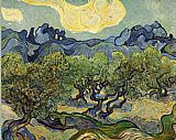 Vincent van Gogh Landscape with Olive Trees painting