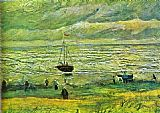 Vincent van Gogh Seashore at Scheveningen painting