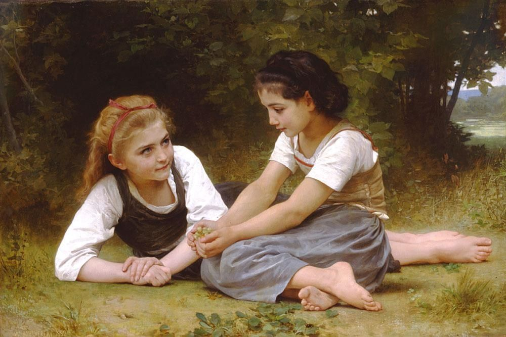 William Bouguereau Hazelnuts