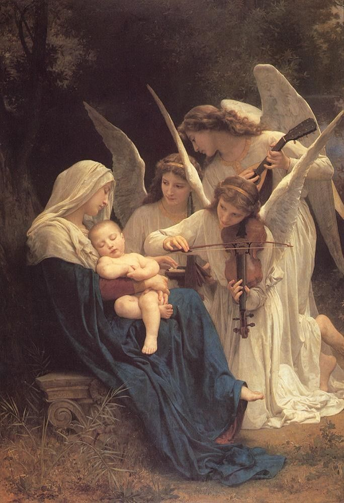 William Bouguereau The Song of the Angels