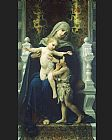 William Bouguereau The Virgin Baby Jesus and Saint John the Baptist painting