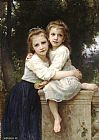 William Bouguereau Two Sisters painting