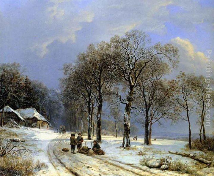 Barend Cornelis Koekkoek Winter Landscape