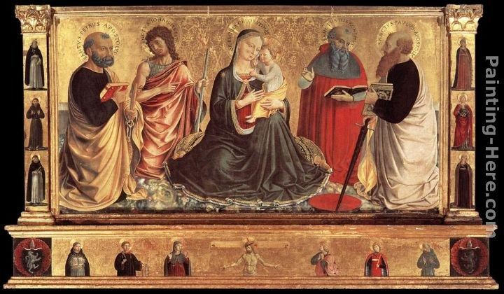 Benozzo di Lese di Sandro Gozzoli Madonna and Child with Sts John the Baptist, Peter, Jerome, and Paul