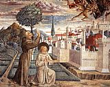 Benozzo di Lese di Sandro Gozzoli Scenes from the Life of St Francis (Scene 6, north wall) painting