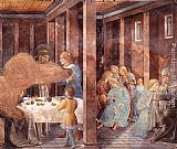 Benozzo di Lese di Sandro Gozzoli Scenes from the Life of St Francis (Scene 8, south wall) painting