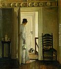 Carl Vilhelm Holsoe A Saucer of Milk painting