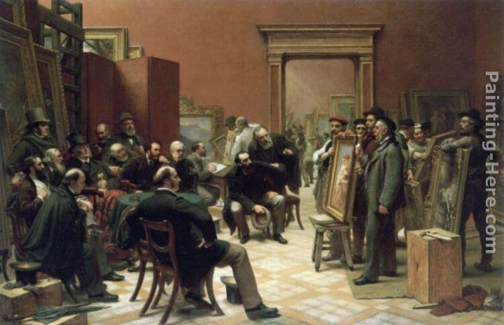 Charles West Cope The Council of the Royal Academy Selecting Pictures for Exhibition
