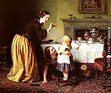 Charles West Cope Breakfast Time - Morning Games painting