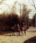 Edmond Grandjean An Afternoon Ride painting
