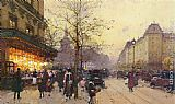 Eugene Galien-Laloue Place De La Republique, Paris painting
