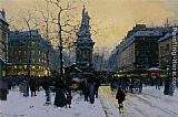 Eugene Galien-Laloue Place de la Republique - Paris painting