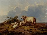 Eugene Verboeckhoven Sheep In The Meadow painting