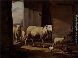 Eugene Verboeckhoven Sheep Returning From Pasture painting