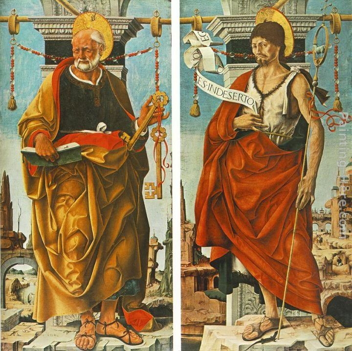 Francesco del Cossa St Peter and St John the Baptist (Griffoni Polyptych)