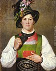 Franz Von Defregger A Young Man In Tyrolean Costume painting