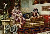 Franz Von Defregger Idle Hours in the Harem painting