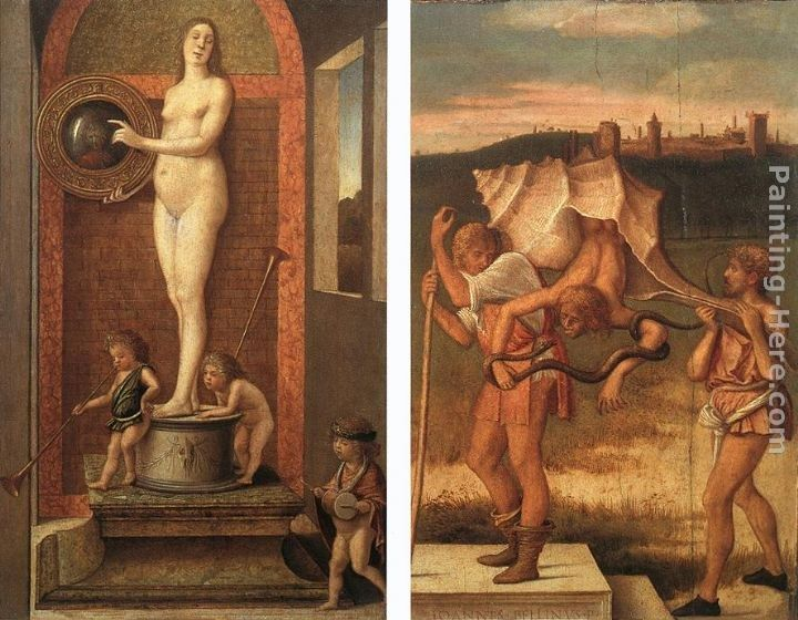 Giovanni Bellini Four Allegories Prudence and Falsehood