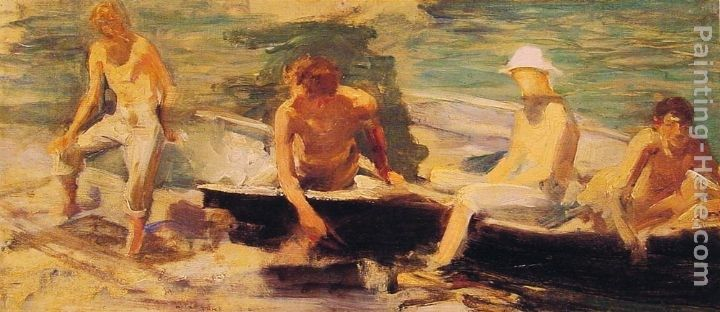Henry Scott Tuke The Rowing Party