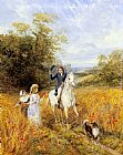 Heywood Hardy The Morning Ride painting
