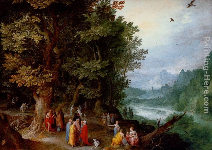 Jan the elder Brueghel Saint John Preaching In The Wilderness