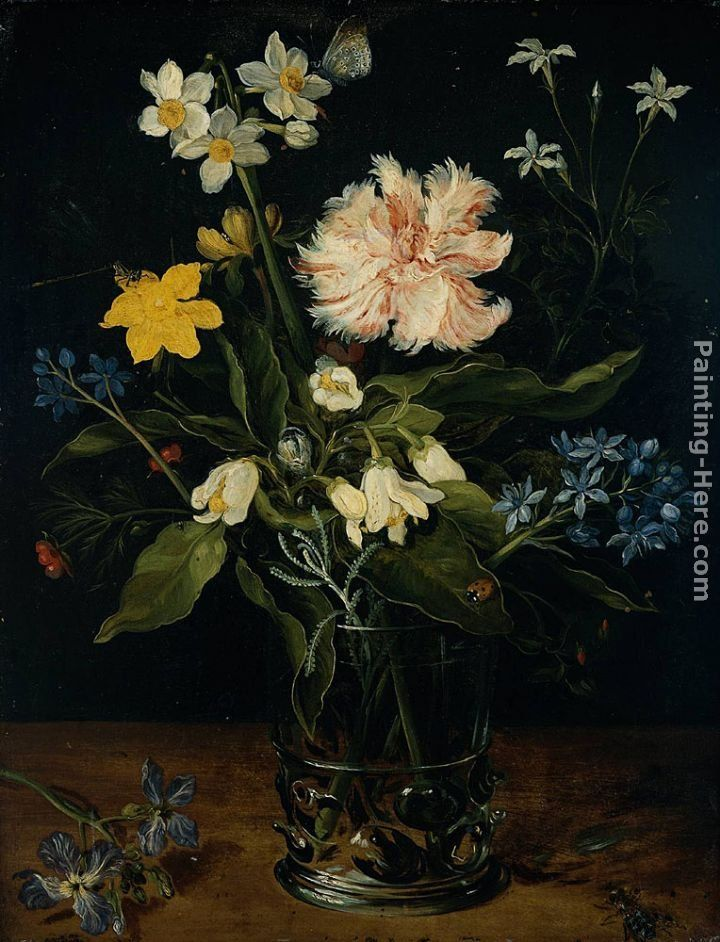 Jan the elder Brueghel Still Life with Flowers in a Glass