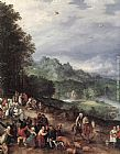 Jan the elder Brueghel A Flemish Fair (detail) painting