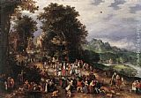 Jan the elder Brueghel A Flemish Fair painting