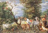 Jan the elder Brueghel The Animals Entering the Ark painting