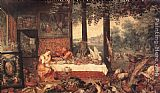 Jan the elder Brueghel The Sense of Taste painting