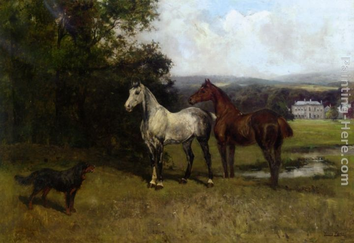 John Emms The Colonels Horses and Collie